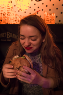"""""""This is the best veggie burger I've ever had."""" - Emily"""