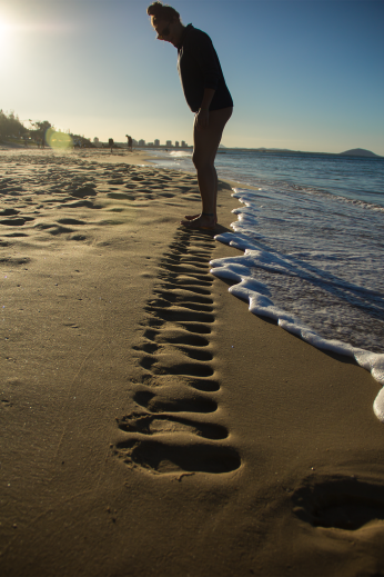 Washing footprints