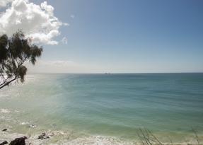 Overlooking sea