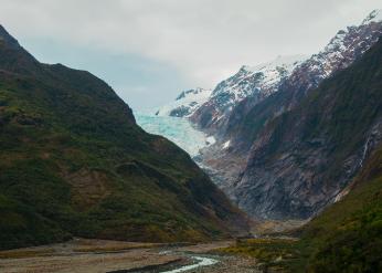 Receding glacier.