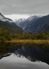 Mountain reflection.