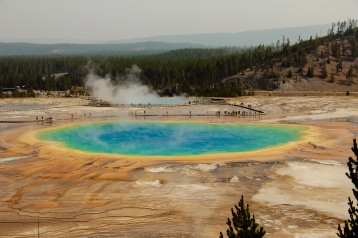 Aug 24. Grand Prismatic Spring.