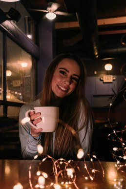 Hot chocolate and smiles.