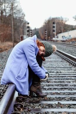 Waitin' for the train.