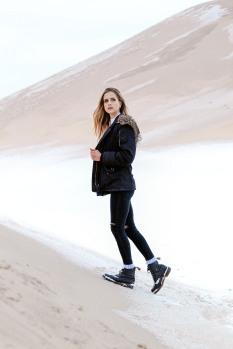 Walkin' in the desert.