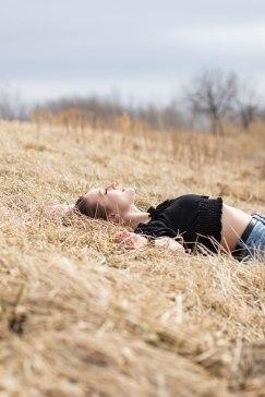 Basking in the sun.