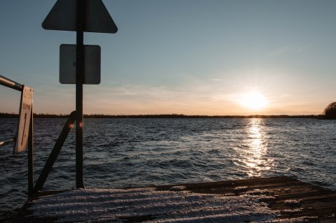 Sunset over the Niagara River.