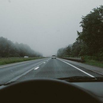 1-90 West. Fog days.