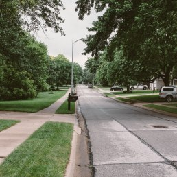 Down the street, Omaha, NE.