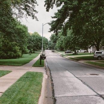 Down the street, Omaha, NE.