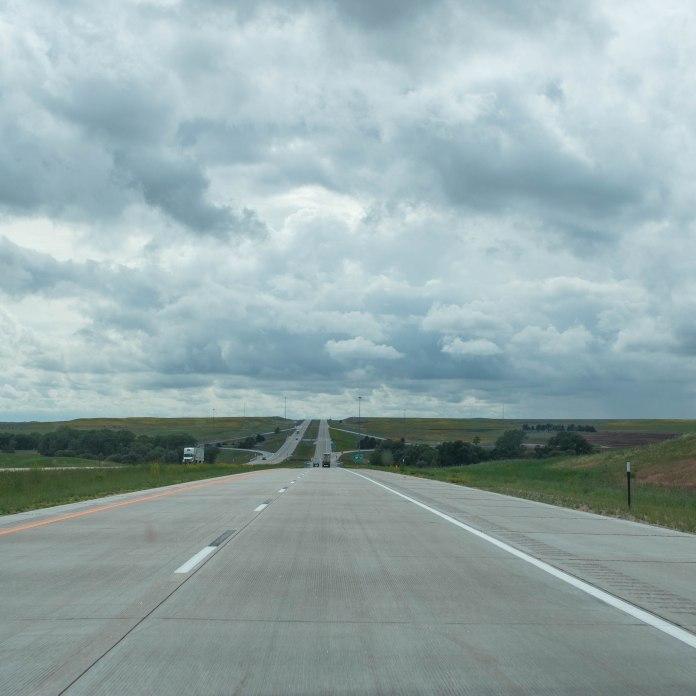 I-80 West. Nebraska.