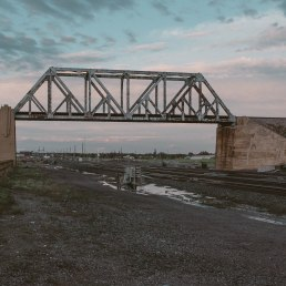 Cheyenne. Train bridge.