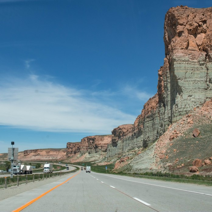 I-80 W, WY. Love this shot.