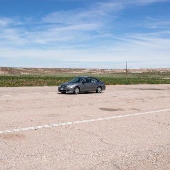 I-80 W, WY. My little Civic.