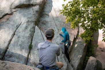 Beginning the final ascent.