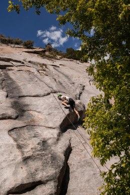 Nico climbing.