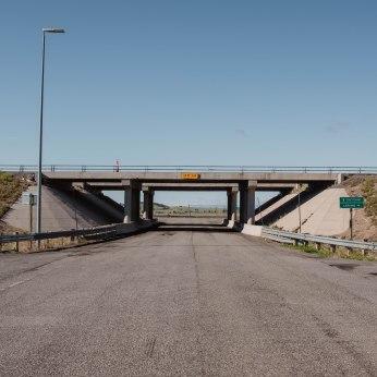 Bridge over I-80, Wyoming.