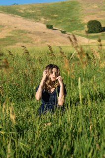 Among grass.