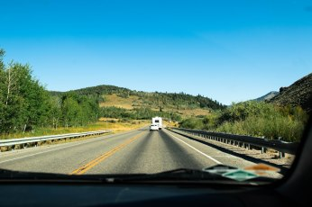 The road to Bear Lake.