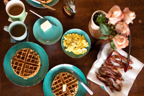 Flatlay breakfast.