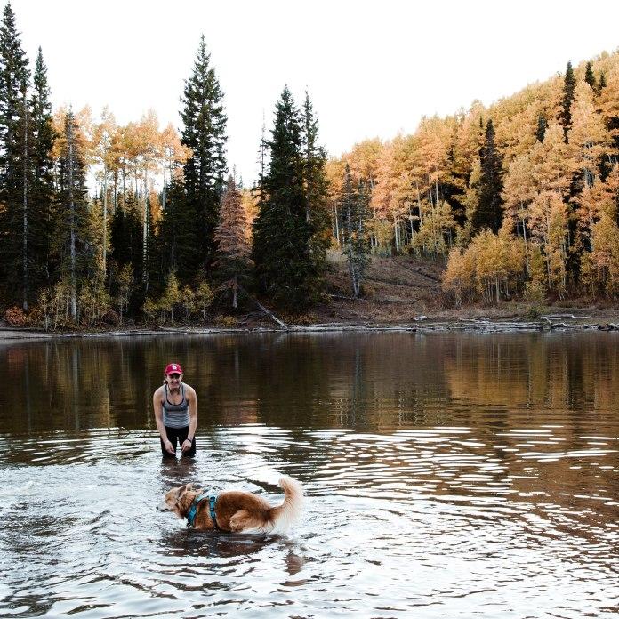 October 7. Abby. Dog Lake.