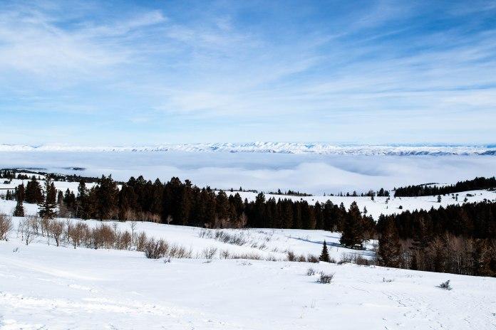 Bear Lake, Utah-Idaho in winter, 2020.