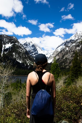 A girl and nature.