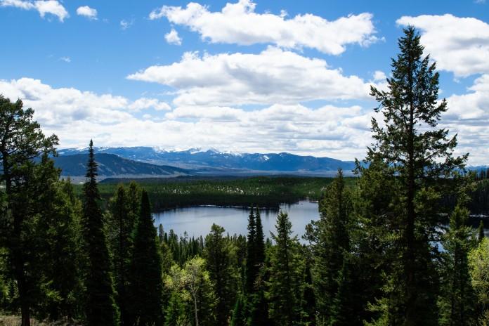 Overlook of Taggart Lake.