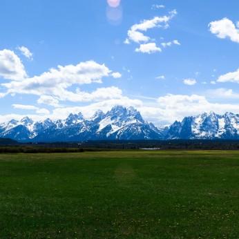 The Teton range.